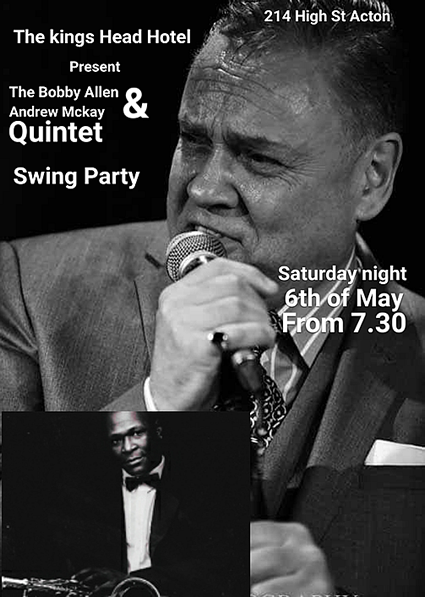 Swing Party.  Saturday, 6th May 2017 from 7:30pm